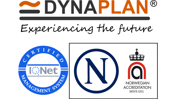 Dynaplan's security management is ISO/IEC 27001:2013 certified