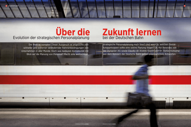 New article in the magazine Personalführung 09/2018: Learning about the future — Evolution of strategic workforce planning at Deutsche Bahn